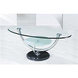 TEMPO KONDELA Konferenčný stolík, chróm/sklo, MATT