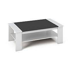 TEMPO KONDELA Konferenčný stolík, DTD laminovaná/ABS hrany, Biela/čierna, BAKER