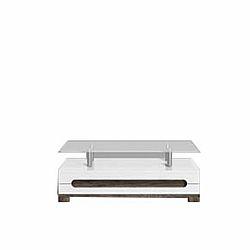 TEMPO KONDELA Konferenčný stolík, san remo/biely vysoký lesk, LORIEN LS 90