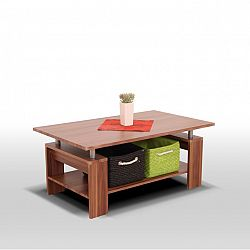 TEMPO KONDELA Konferenčný stolík, svetlý orech/kov trieborná, ROKO