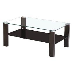 TEMPO KONDELA Konferenčný stolík, wenge/sklo, JAGO