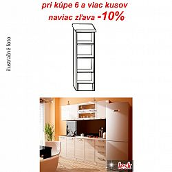 TEMPO KONDELA Kuchynská policová skrinka, biela, ITA NEW D3P-20