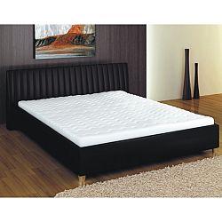 TEMPO KONDELA Manželská posteľ, ekokoža čierna, 180x200, DREAM