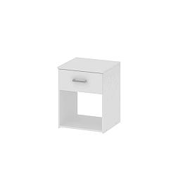 TEMPO KONDELA Nočný stolík, biela, GARBO