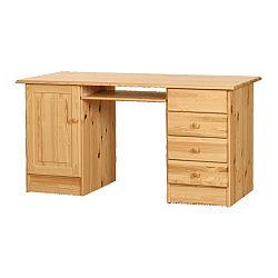 TEMPO KONDELA PC stôl, borovicový masív, MD PC STÔL 03