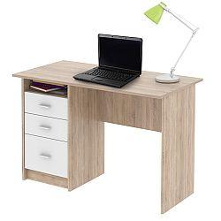 TEMPO KONDELA PC stôl, dub sonoma, SAMSON