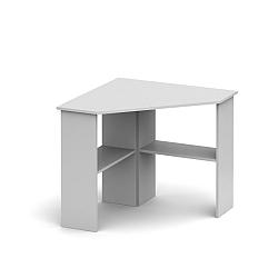 TEMPO KONDELA PC stôl, rohový, biela, RONY NEW
