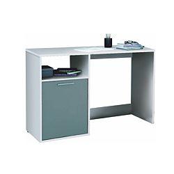 TEMPO KONDELA PC stôl, sivá/biela, BANDY 258758