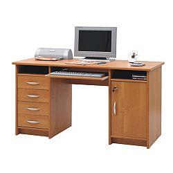 TEMPO KONDELA PC stolík B9, višňa