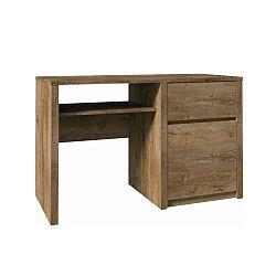 TEMPO KONDELA PC stolík s jednou zásuvkou a jednými dverami, dub lefkas, MONTANA B1