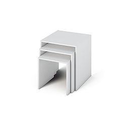 TEMPO KONDELA Príručný stolík, DTD laminovaná/ABS hrany, biela, SIPANI
