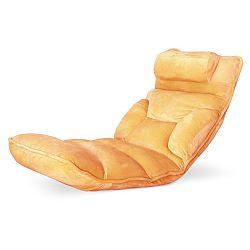 TEMPO KONDELA Relaxačné kreslo, látka oranžová, LOTA
