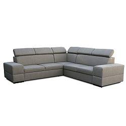 TEMPO KONDELA Rohová rozkladacia sedacia súprava s úložným priestorom, ľavé prevedenie, látka cappucino, MONAKO