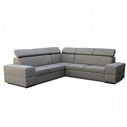 TEMPO KONDELA Rohová rozkladacia sedacia súprava s úložným priestorom, pravé prevedenie, cappucino, MONAKO