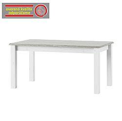 TEMPO KONDELA Rozkladací jedálenský stôl, biela, LIONA LM 88