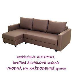 TEMPO KONDELA Rozkladacia sedacia súprava, univerzálna, hnedá, EVAN