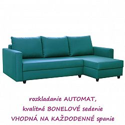 TEMPO KONDELA Rozkladacia sedacia súprava, univerzálna, tyrkysová, EVAN