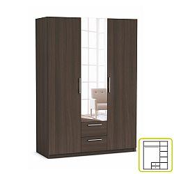 TEMPO KONDELA Skriňa, 3 - dverová s 2 zásuvkami, so zrkadlom, dub vulcano, JUPITOR 384227