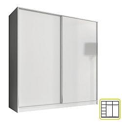 TEMPO KONDELA Skriňa dvojdverová kombinovaná, šírka: 200 cm, biela, AVA