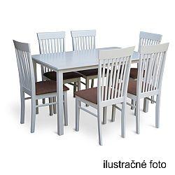 TEMPO KONDELA Stôl 135, biela, ASTRO
