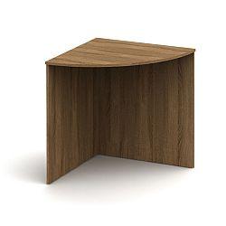 TEMPO KONDELA Stôl rohový oblúkový, bardolino tmavé, TEMPO ASISTENT NEW 024