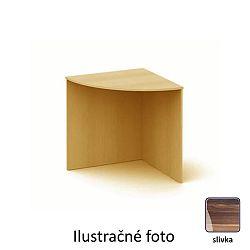 TEMPO KONDELA Stôl rohový oblúkový, slivka, TEMPO AS 06