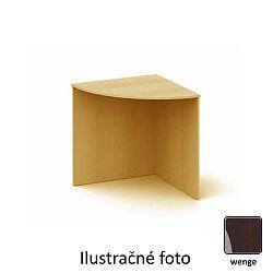 TEMPO KONDELA Stôl rohový oblúkový, wenge, TEMPO AS 06
