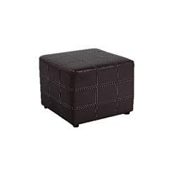 TEMPO KONDELA Taburet, čierna textilná koža, NELA