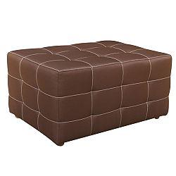 TEMPO KONDELA veľký taburet, nemo 5 čokoládová, KAZARA