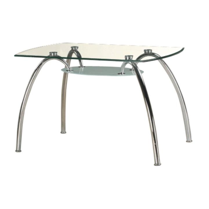 67536bd2edb15 TEMPO KONDELA Jedálenský stôl, chróm/sklo, STEVE T-649 | SwedWood.sk