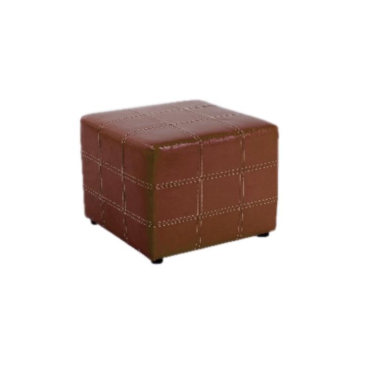 1b1280704 TEMPO KONDELA Taburet, hnedá textilná koža, NELA | SwedWood.sk